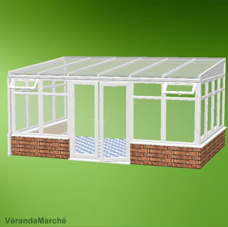 exemple veranda 20m2 kit
