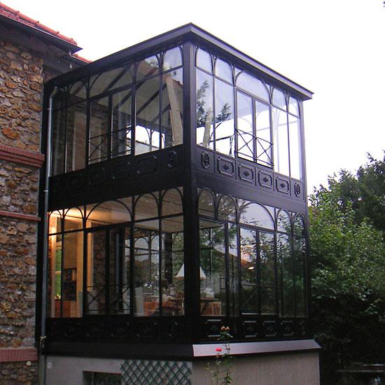 superbe veranda en fer forgé
