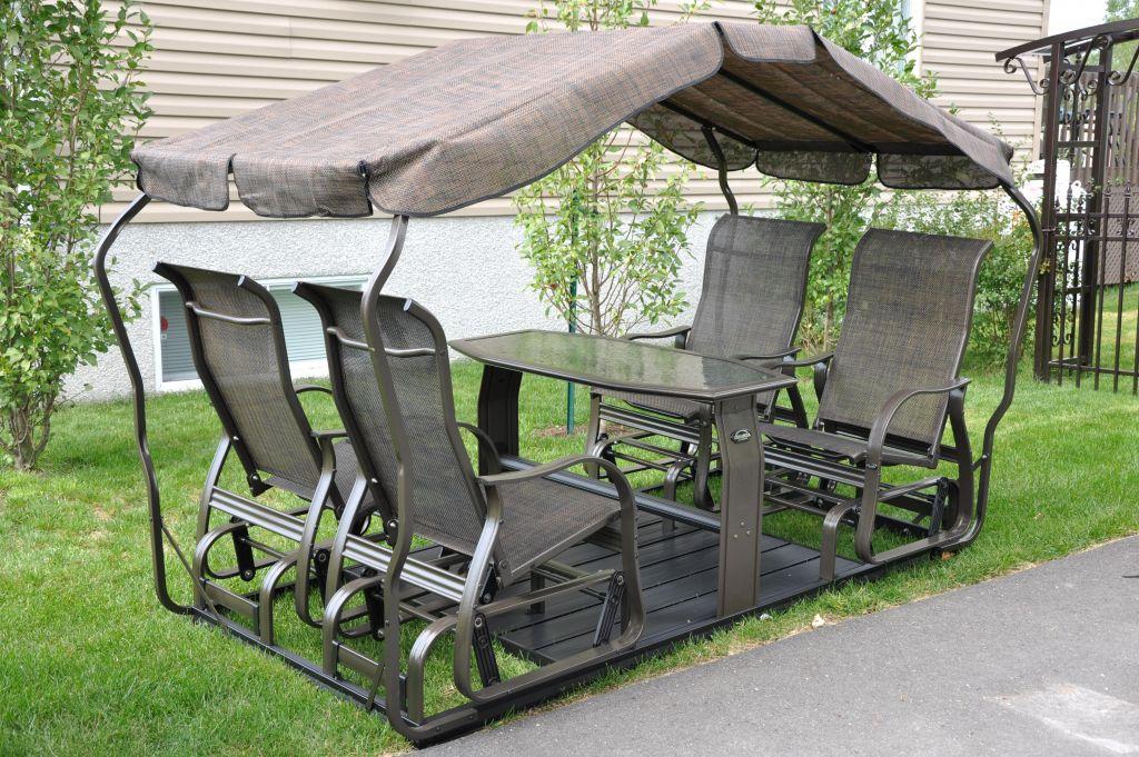 Veranda jardin balancoire ma v randa for Chaise balancoire jardin