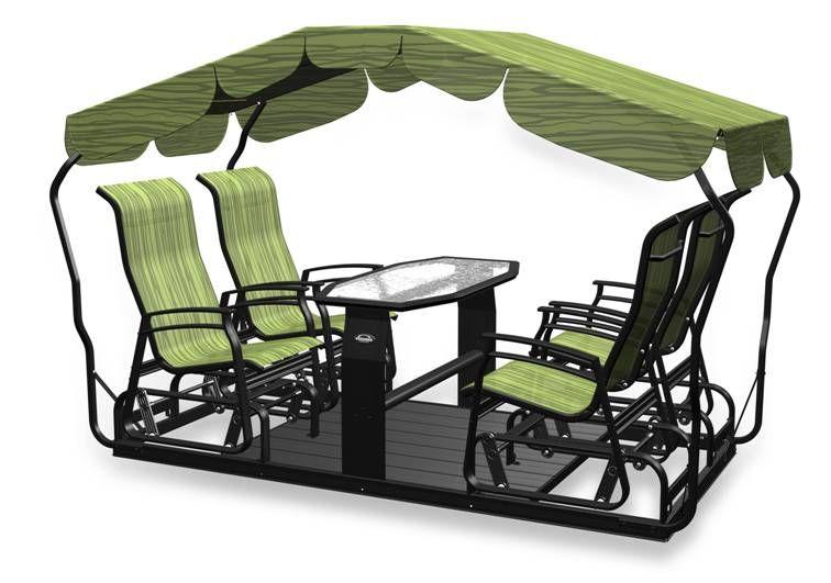 exemple veranda jardin balancoire