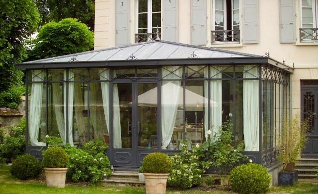 superbe veranda zinc