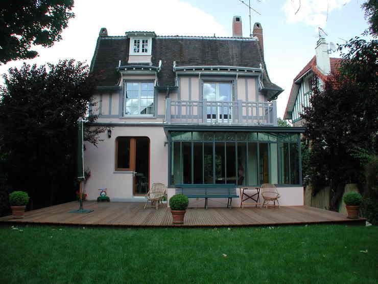 exemple véranda maison ancienne
