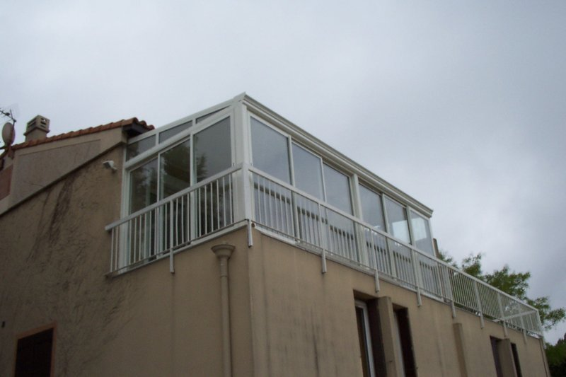 modèle véranda fermeture de balcon