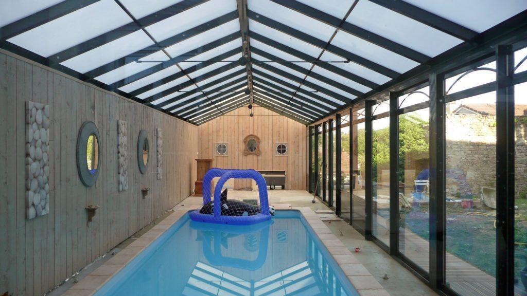 image véranda piscine