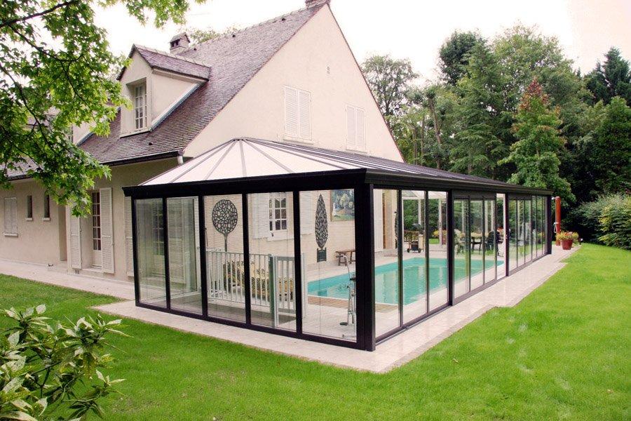 exemple véranda piscine