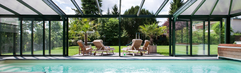 photographie véranda piscine