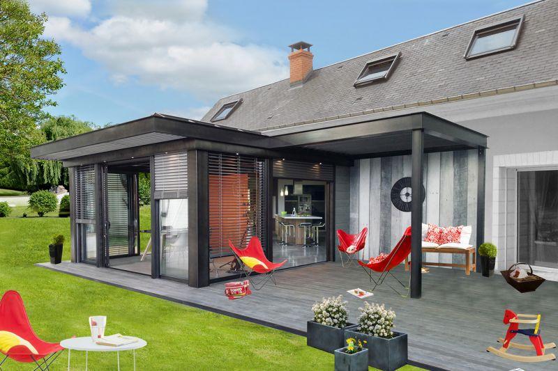 idée véranda toit terrasse