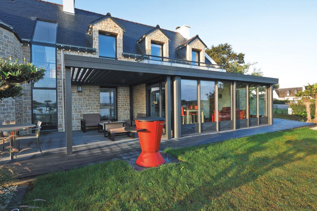 modèle véranda toit terrasse