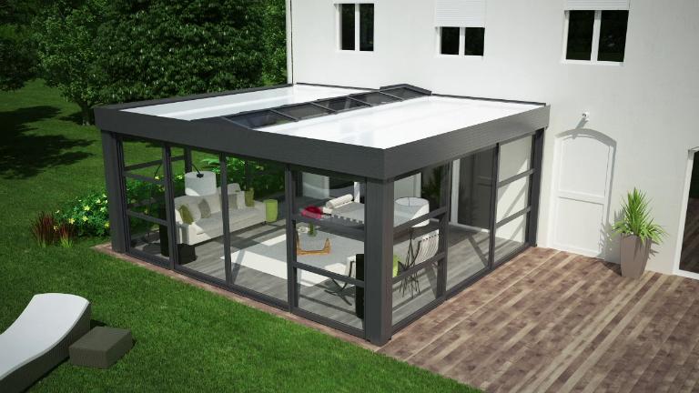 superbe véranda toit terrasse