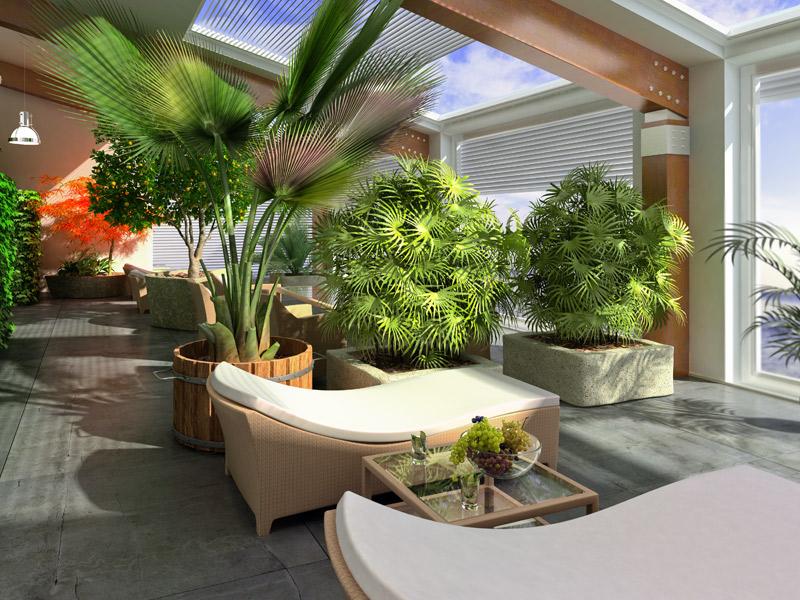 idée veranda zen